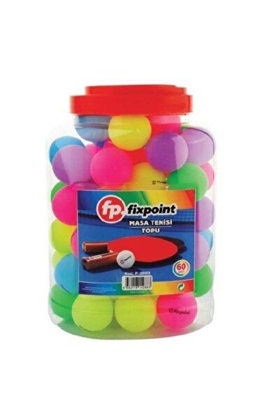 FixPoint Renkli Masa Tenisi Topu 60'lı Paket P-2883