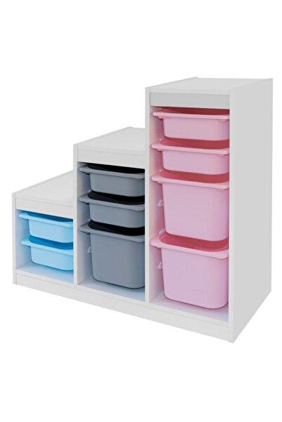 Vip Home Montessori Oyuncak Dolabı Trofast Saklama Düzenleme Ünitesi Vps-01