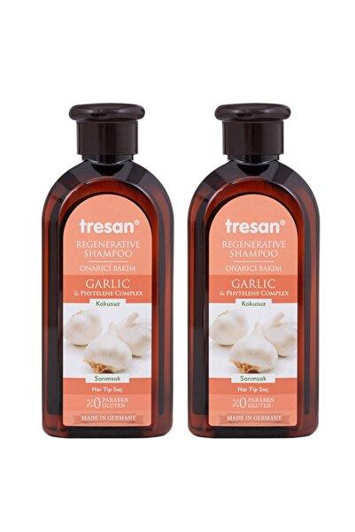 Tresan Sarımsak Onarıcı Bakım Şampuanı 300 ml  2 Adet
