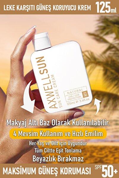 RC COSMETİCS Premium Axwell Sun Care Cream- Leke Karşıtı Güneş Koruyucu Krem Spf50 125ml