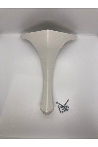 KARAKOÇ Lükens 28x16x16 Cm Beyaz Plastik Puf-sehpa Ayağı ( 4 Adet)