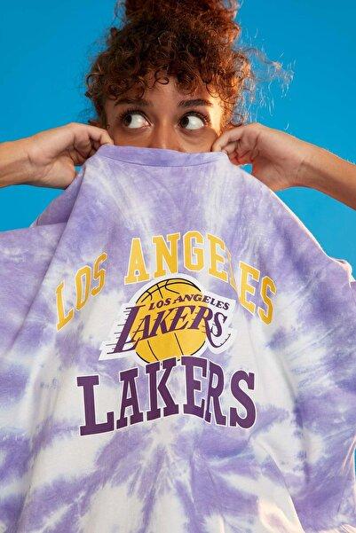 DeFacto Nba Los Angeles Lakers Oversize Fit Kısa Kollu Tişört