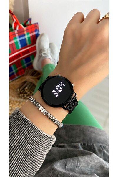 İSTLİV Unısex Çelik Led Ekran Dijital Kol Saati
