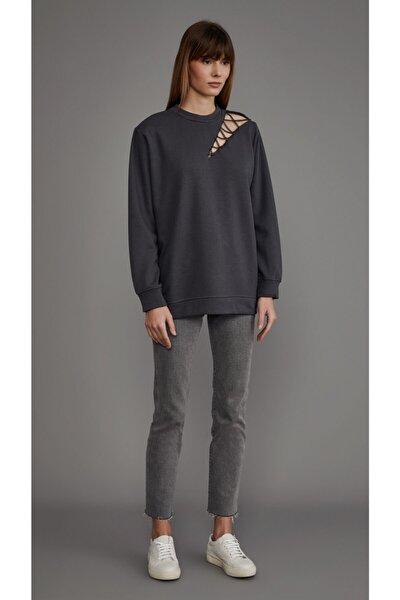 LOVEMETOO Addicted Gri Sweatshirt