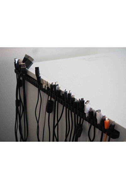 TeknoDuvar Kablo Derlejici Organizer Tutucu Düzenleyici Merkezi Aparatı Siyah