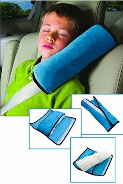 Araç Oto Emniyet Kemeri Tutucu Uyku Pedi Yastık Emniyet Yastığı Mavi