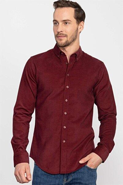 Tudors Slim Fit Kışlık Kadife Erkek Gömlek