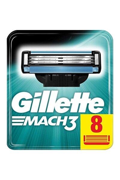 Gillette Mach3 8'li Yedek Tıraş Bıçağı Karton Paket
