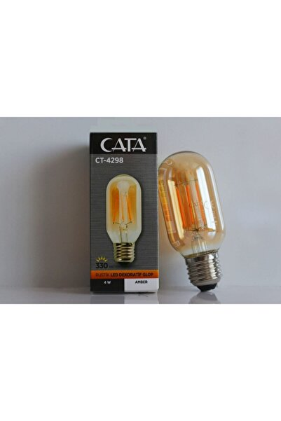 Cata Rustik Led Dekoratif Glop Amber Renk Ct-4298 4w 220-240v 330 Lümen