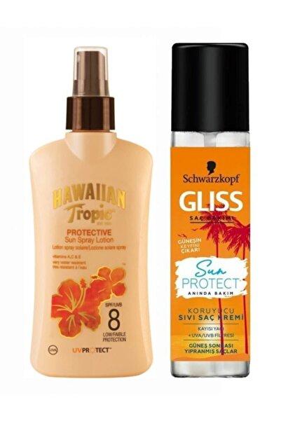 Hawaiian Tropic Güneş Korucu Spf8 Vücut Ve Saç Bakım Seti