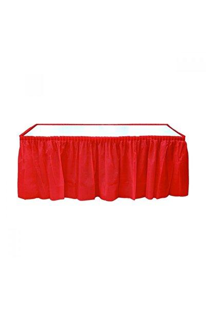 Partimarket Masa Eteği Tek Renk Kırmızı 74cm*426cm