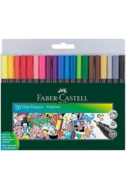 Faber Castell 20'li Grıp Finepen 0.4 Mm Fineliner Set 6200