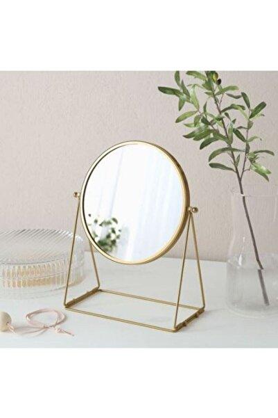 IKEA Lassbyn Altın Rengi Masa Aynası