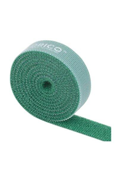WOZLO Orıco 1 Metre Cırt Cırt Bant Şarj Kablo Bağı Düzenleyici Yeşil
