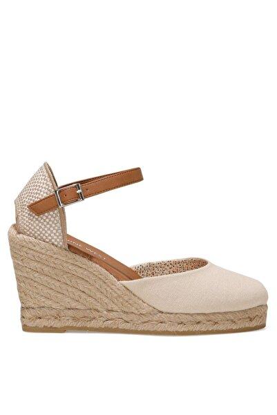Nine West ARTEMISIA 1FX Bej Kadın Dolgu Topuklu Sandalet 101017830