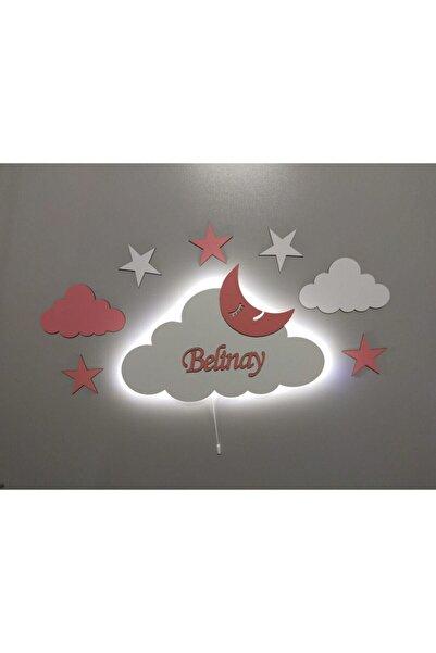 fabrikahşap Çocuk Odası Dekoratif Ahşap Bulut Gece Lambası Ledli Aydınlatma