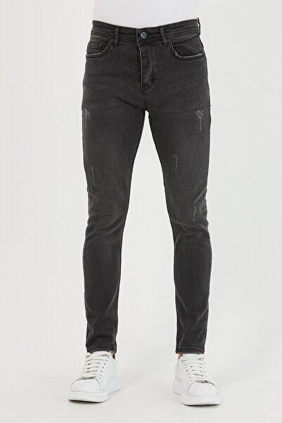 Mc. Grado Erkek Antrasit Skinny Fit Destro Tırnaklı Likralı Bilek Boy Jean Pantolon