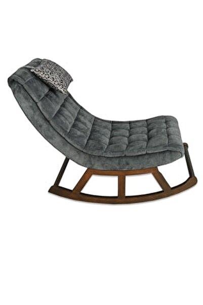 Teksas Ceviz-Gri Miskin Sallanan Sandalye