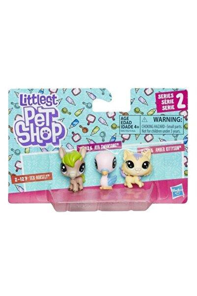 Littlest Pet Shop Mini Miniş Figür Üçlü Paket E0214-e0457