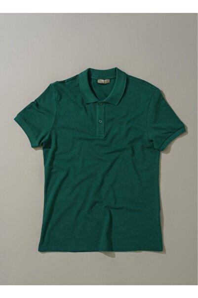 Fabrika Erkek Polo Yaka T- Shirt - Koyu Yeşil