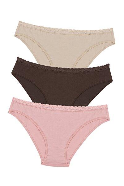 Penti Çok Renkli Nude Colors 3lü Slip Külot
