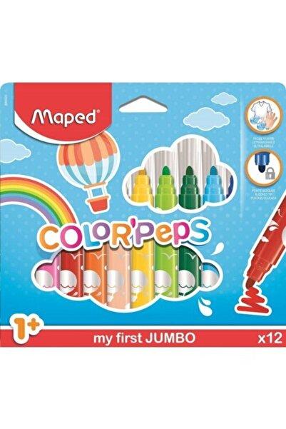 Maped Maxi Jumbo Keçeli Kalem 12 Li