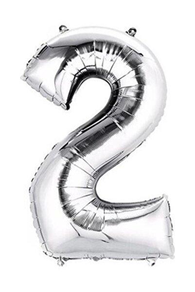 Oyuncak Paketi Gümüş Folyo Balon 2 Rakamı 100 cm