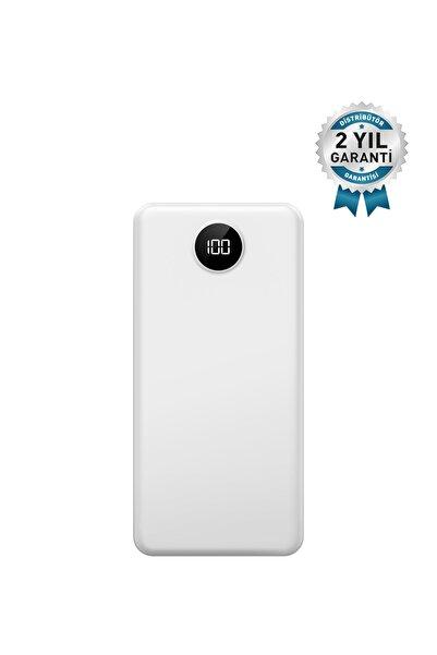 İntouch Slim Led Ekran 10.000 Mah 2 Çıkışlı Taşınabilir Şarj Cihazı Powerbank Beyaz