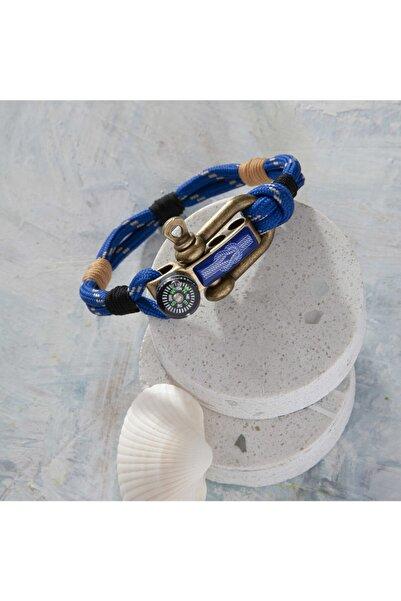 Duruj Knot - Mavi, Şık Tasarıma Sahip, Yüksek Kaliteli Ve Dayanıklı Paracord Bileklik