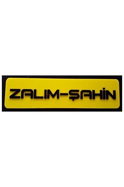 EFL Zalım Şahin Dekor Sarı Plaka