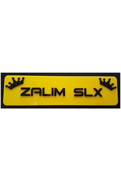 EFL Zalım Slx Dekor Sarı Plaka