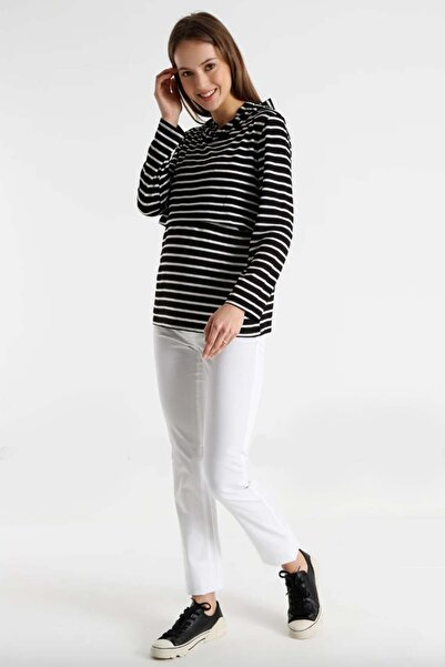Gaiamom Kısa Ribanalı Beyaz Hamile Pantolon
