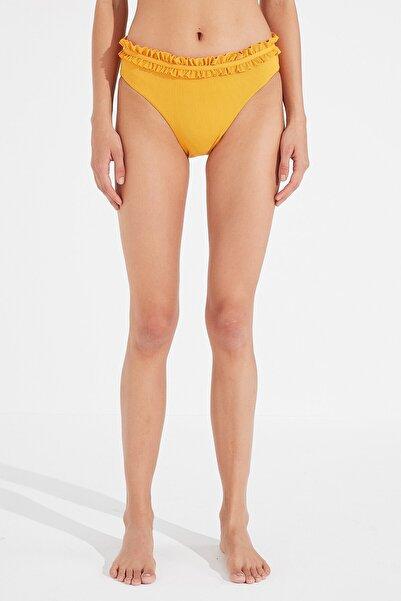 Penti Kadın Sarı Kelsey Frill Slip Bikini Altı
