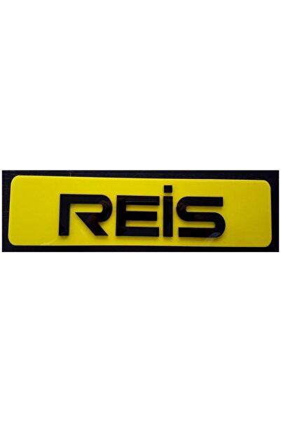 EFL Reis Dekor Sarı Plaka