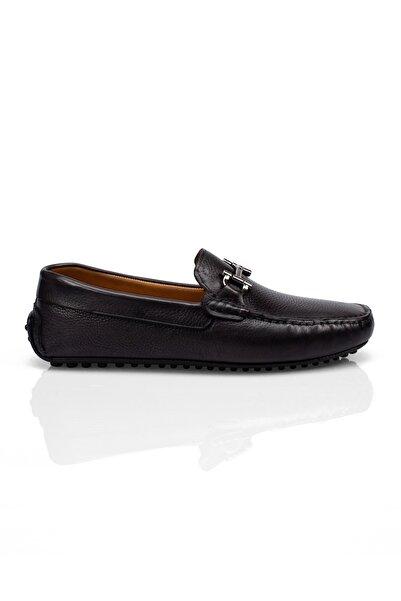 Alba Siyah Hakiki Yumuşak Deri Erkek Loafer Ayakkabı