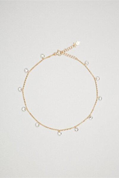 So CHIC... Zirkon Taşlı 18 Ayar Rose Altın Kaplama 25 cm Gümüş Halhal