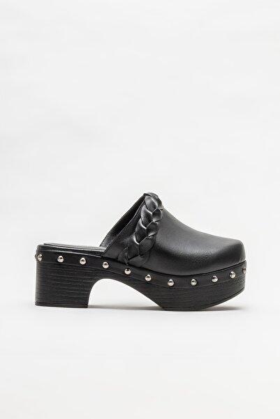 Elle Shoes Siyah Kadın Topuklu Terlik