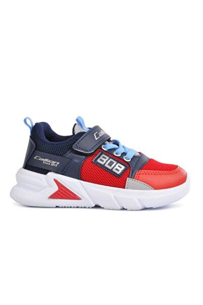 Callion 099 Kırmızı Lacivert Çocuk Spor Ayakkabı