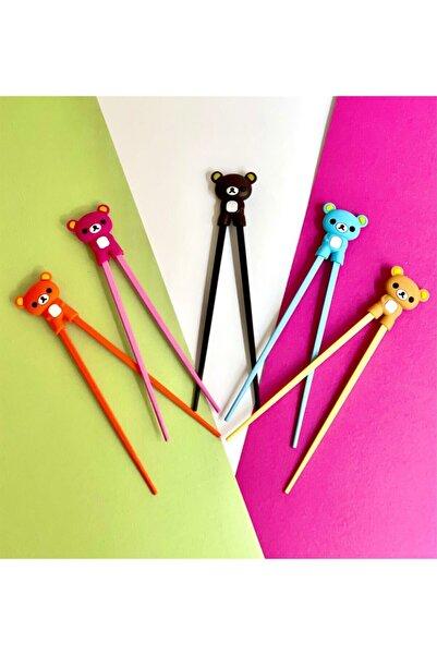 Gift Moda Renkli Chopstick ve Chopstick Öğrenme Aparatı Sarı