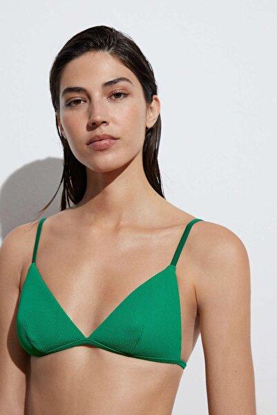 Oysho Geri Dönüştürülmüş Rib Üçgen Bikini