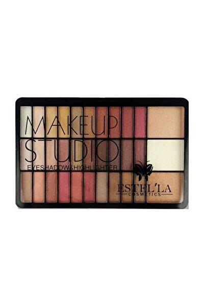 Estella Make Up Studıo 30 Lu Far+3lü Highligter Palet B Paketi