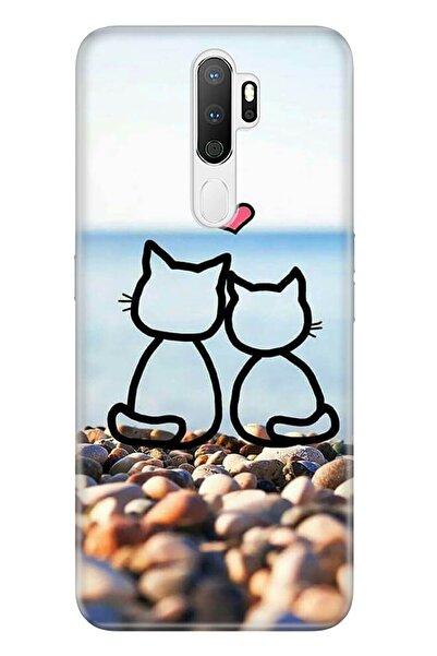 Oppo A5 A9 2020 Pure Modern Desenli Silikon Kılıf Kedilerin Aşkı
