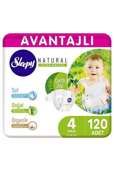 Sleepy Natural Avantajlı Bebek Bezi 4 Numara Maxi 120 Adet