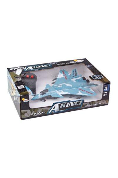 Toys Duman Oyuncak Kumandalı Akıncı Uçak 2 Fonksiyon Y05