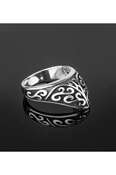 Feays Silver Özel Tasarım Zihgir Modeli Gümüş Erkek Yüzüğü