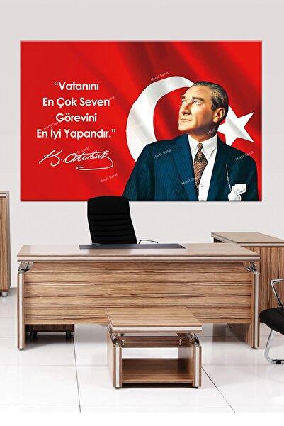 Morfil Sanat Atatürk Mustafa Kemal Makam Panosu Tablosu Kanvas Tablo Resmi Kurumlar Okullar