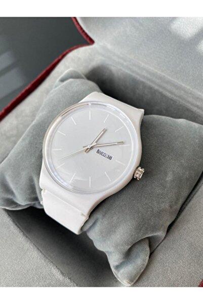 İnogge Unisex Silikon Kordon Beyaz Kol Saati
