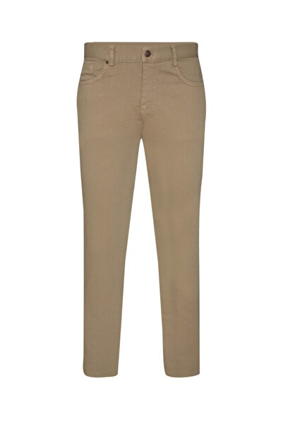 SÜVARİ Slim Fit Sarı Bej Erkek Pantolon