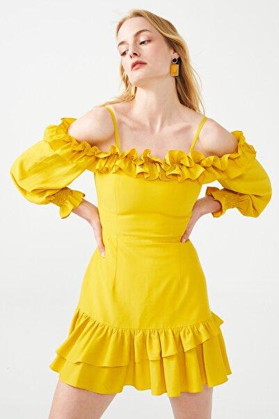 Muun Jessica Fırfırlı Mini Elbise