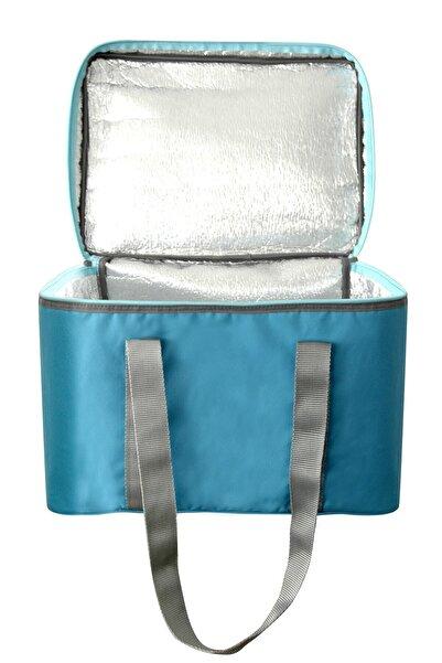 Renocar Isı Yalıtımlı Termo Kamp Piknik Paket Servis Çantası Fermuarlı Termal Çanta 36 Litre Mavi